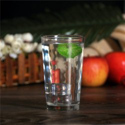 Großhandelsregentropfen kopierten gerades Glaswasser-Trommel-Glas-Cup