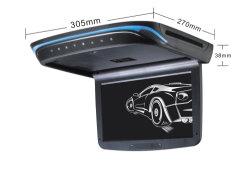 Toit du Bus 10,2 pouces LED montés au plafond de moniteur avec lecteur de DVD intégré dans l'IR et émetteur FM Flip vers le bas du moniteur de voiture