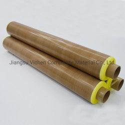 Nastri adesivi in tessuto di fibra di vetro rivestiti in PTFE ad alta resistenza alle temperature per Nastro adesivo in vetro teflon per sigillatrice a sacchetti