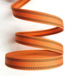 Nastro in PP Custom Color da 40 mm 20 mm in polipropilene Nastro in nylon nero stampato Rainbow PP Jacquard