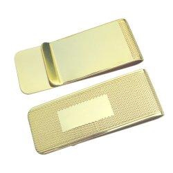Venda por grosso de latão de alta qualidade os marcadores de estamparia de metal ouro o titular do cartão em branco dinheiro encaixar A2111009)