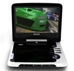 Private Mould 9.5 inch Portable DVD with TV + USB + SD + Game DVD Player (DVD-668C)