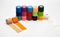 Hersteller-Sports selbstklebende röhrenförmige medizinische Preis-Rollenklebstreifen-Knie-Gewebe-Baumwolle wasserdichten elastischen Verband