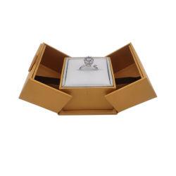 Papel personalizado jóias Caixa de anel de acondicionamento de caso