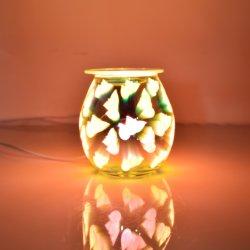 الشمع المعطر يذوب جهاز تسخين الإضاءة الثلاثية الأبعاد جهاز تسخين شمعة التلوين العصري عطر مبخرة الزيت الزجاجي