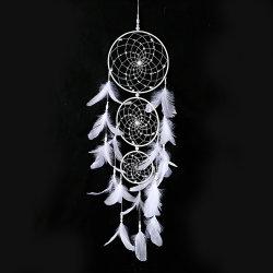 Large White Dream Catcher 3 anillos de boda colgante suministra la decoración de interiores La decoración del hogar regalos para enamorados