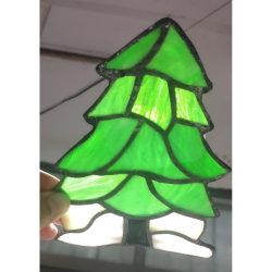 China Vitrais Panels Árvore de Natal Dom Decoration luzes da noite