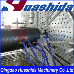 En PEHD à tuyau à paroi structuré Ligne d'Extrusion/PEHD mur creux tuyau ondulé Ligne d'Extrusion