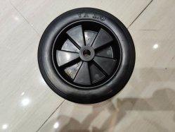 7'' centre de roue en caoutchouc noir en PP