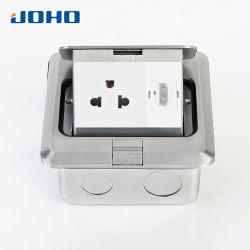 DCT-628/lb soulevées matériau aluminium de type socket de plancher Boîte avec prise Us et HDMI
