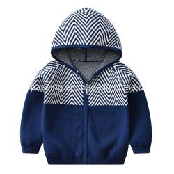 자카드 웨이브 지퍼 스웨터 카디건 스웨터 아기 용품 아동복 공장 아울렛 재킷 의류 도매 베이비 보이 아이들이 입습니다