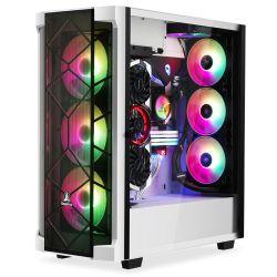 풀 타워 PC 게임 케이스, 강화 유리 측면 패널, 케이블 관리/선택사양 360mm 수냉식, 최대 7개의 팬 지원, 전면 I/O USB 3.0 Type-C 포트