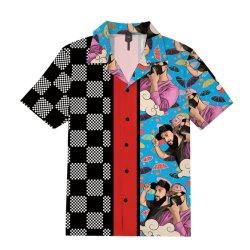 OEM Custom HD Print Silk Hawaiian Shirt Printed Jacket 및 재킷 드레스 및 정장 셔츠