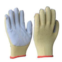 البناء الصناعي سلسلة آراب حبال الجلد المحبوك السلامة العمل مكافحة تآكل في الثقوب قفازات يدوية مقاومة لقطع الحرارة