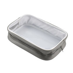 Transparente wasserdichte Ineinander greifen Belüftung-Qualitäts-Quadrat-weiche einfache Art-bunter fördernder Geschenk-Speicher-Kosmetik-Beutel