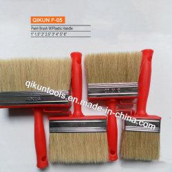 F-05ハードウェアはペンキ手のツールのプラスチックハンドルの剛毛の絵筆を飾る