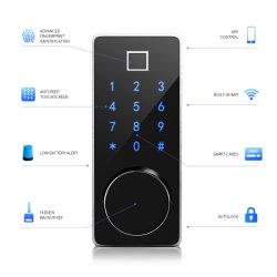 Control de bloqueo electrónico WiFi Tuya biométrico de huellas digitales de bloqueo de puerta de cerrojo inteligente