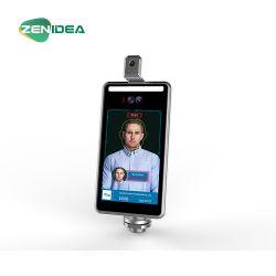 Gesichts-Anerkennungs-Terminal 8 Zoll-Befund-Karosserien-messende Überwachungskamera-Temperatur, die Digital überprüft