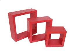 Mensola rossa Ternate del cubo della parete (TXC013)