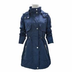 De alta calidad OEM Polvo Damas Casual chaqueta con capucha