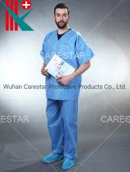 Одноразовые SMS нетканого материала V-образный вырез медсестер пациента врач больницы единообразных
