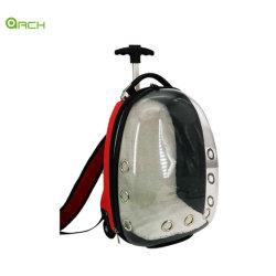 ABS+PC Carrinho exterior transparente embalagem PET/Sacola com ventilador para cães e gatos pequena mochila de Bolsas de viagem Saco de ombro