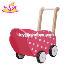 De nieuwe Heetste Duw van de Baby langs Kinderwagen van Doll van het Speelgoed de Houten voor voor Kinderen 3+ W16e086