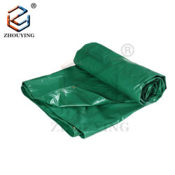 Lona de PVC reforzado resistente al agua con pasamuros