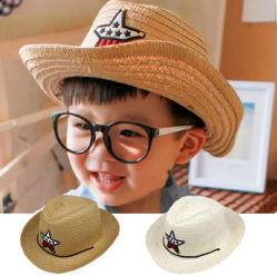 Los niños estrella Five-Pointed sombrilla sombrero de paja