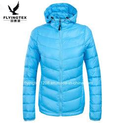 Dame-/Dame-Winter-Kleid-Mantel der Frauen mit Kapuze Packable unten Umhüllung