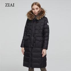 Alimenter directement le commerce de gros Les femmes Long manteaux chauds Parka rembourré avec fourrure véritable courroie manteau Puffer Mesdames manteaux d'hiver Plus Size Manteaux