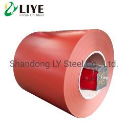 China fábrica de molino de Gi PPGI fabricación de aluminio galvanizado recubierto de zinc Galvalume Prepainted el color de la bobina de acero recubierto de material de construcción para techos