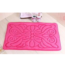Flanela de estilo clássico Gofragem Flower Bathmat Fabric