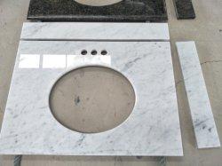 Couleur populaire Bianco Carrara en marbre blanc blanc Vanity Tops, des comptoirs de cuisine, l'île Tops, Bar Tops, paillasses, plans de travail