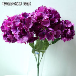 6 chef Grand Hydrangea Faux Bouquet de fleurs de soie artificielle Home Decor Craft