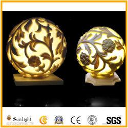 Lámpara LED impermeable al aire libre la piedra arenisca Polyresin Artesanía