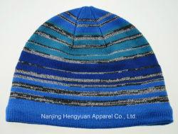 Nouveau style réfléchissant de loisirs d'hiver à rayures Bonnet tricoté Hat (HY17101704)