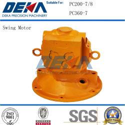 Hidráulico giratorio Kamatsu para PC200-7 El Motor de giro/8 piezas de repuesto de la excavadora PC360-7