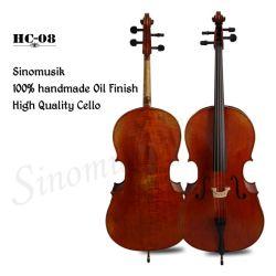 Violoncello antico Handmade 100% ad alto livello professionale dello strumento musicale