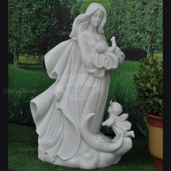 De in het groot Beeldhouwwerken van de Tuin van de Engel van het Standbeeld van de Steen Marmeren (gss-163)