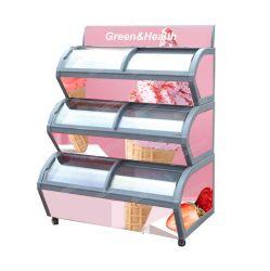 Descodificador com estilo Onda Freezer, Gelados Congelador, Supermercado Mostruário de congelação