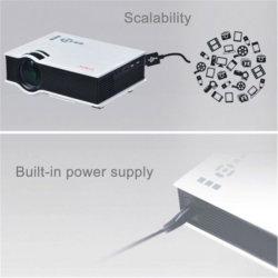 Proiettore portatile di Beamer Unic UC40+ di multimedia dell'input 800*480 del teatro domestico USB/SD/HD dell'affissione a cristalli liquidi del proiettore LED di Unic UC40+