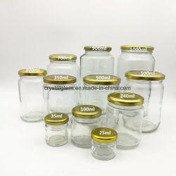 Стеклянный кувшин блендера с продовольствия огурчиков металлический выступ крышки мед упаковочный контейнер из стекла