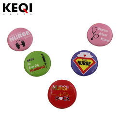 Logotipo rápido barato Monograma Estanho Personalizados Botões Pin de lapela