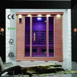 Classic du Sauna à infrarouge lointain pour 4 personne à utiliser avec chauffage infrarouge combinés