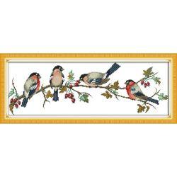 Bullfinch 11CT Vogels Cross Stitch Groothandel Doe het perfecte cadeau Kruiskit handwerk