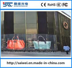 LED transparente cristal de la publicidad en pantalla grande Cartelera de pantalla