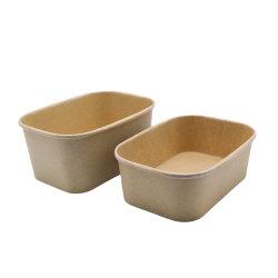 Одноразовая посуда бумаги питание обед в кафе прямоугольник упаковке