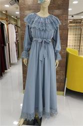 Kundenspezifische hochwertige Stickerei Falbala Moslem-Kleid-Partei-elegante islamische Fußleiste