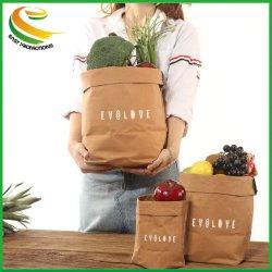 Sacs de stockage de papier kraft lavable sac de légumes plantes poussent Pot de Fleurs Panier
